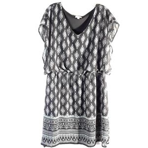 C black and white sheer lined dress Size XL